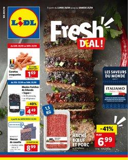 Promos de Supermarchés dans le dépliant à Lidl ( 2 jours de plus)