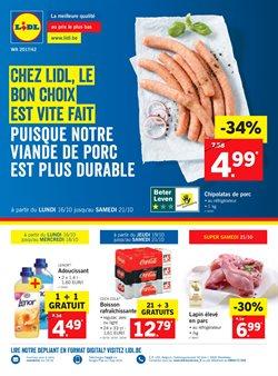 Promos de Supermarchés dans le dépliant de Lidl à Gent