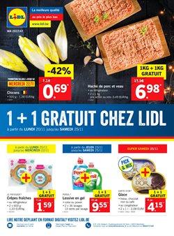 Promos de Supermarchés dans le dépliant de Lidl à Liège