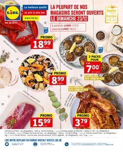 Promos de Supermarchés dans le dépliant de Lidl à Mons