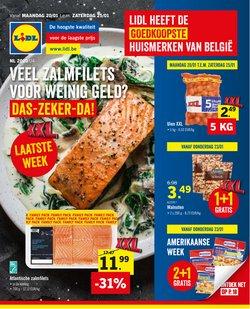 Promos de Supermarchés dans le dépliant de Lidl à Louvain
