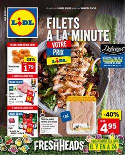 Promos de Supermarchés dans le prospectus de Lidl à Bruxelles ( Publié hier )