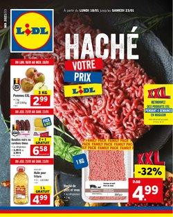 Promos de Supermarchés dans le prospectus de Lidl à Bruxelles ( 5 jours de plus )
