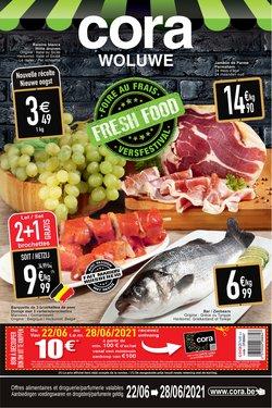 Promos de Supermarchés dans le dépliant à Cora ( 4 jours de plus)