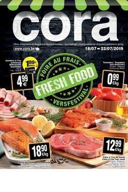 Promos de Supermarchés dans le dépliant de Cora à Grimbergen