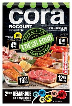 Promos de Supermarchés dans le dépliant de Cora à Ans