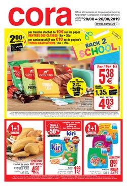 Promos de Supermarchés dans le dépliant de Cora à Liège