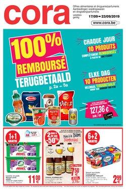 Promos de Supermarchés dans le dépliant de Cora à Dilbeek