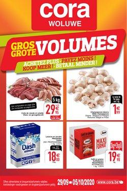 Promos de Supermarchés dans le prospectus de Cora à Bruxelles ( Publié aujourd'hui )