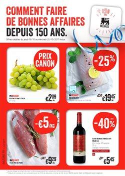 Promos de Supermarchés dans le dépliant de Delhaize à Bruxelles