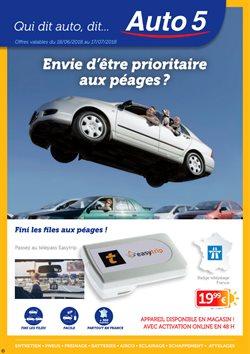 Promos de Voitures Motos et Accessoires dans le dépliant de Auto5 à Flémalle