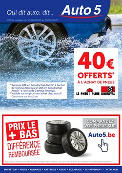 Promos de Voitures et Motos dans le prospectus de Auto5 à Ottignies-Louvain-la-Neuve ( 13 jours de plus )