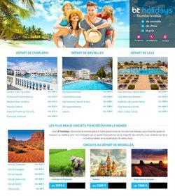 Promos de Voyages dans le dépliant de BT Holidays à Bruxelles