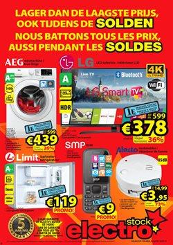 Promos de Electroménager et Multimédia dans le dépliant de ElectroStock à Bruxelles