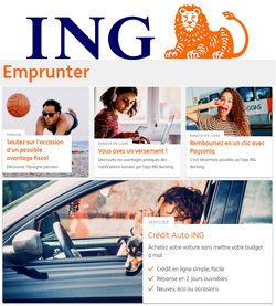 Promos de Banques et Assurances dans le dépliant à ING ( 6 jours de plus)