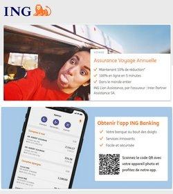 Promos de Banques et Assurances dans le dépliant à ING ( 5 jours de plus)