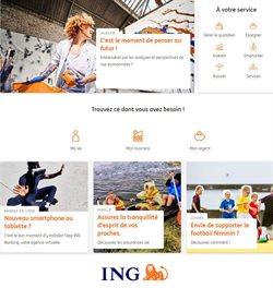 Promos de Banques et Assurances dans le prospectus de ING à Gent ( 6 jours de plus )
