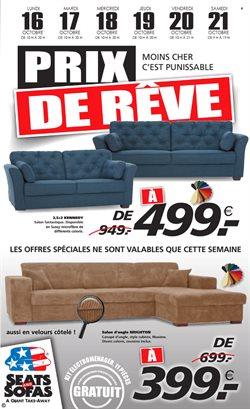 Promos de Meubles et Décoration dans le dépliant de Seats and Sofas à Waregem