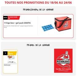 Promos de Supermarchés dans le dépliant à Renmans ( Expire aujourd'hui)