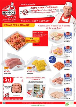 Promos de Supermarchés dans le dépliant de Renmans à Bruxelles