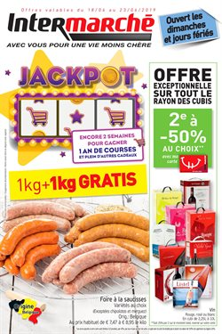 Promos de Supermarchés dans le dépliant de Intermarché à Louvain