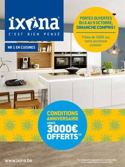 Promos de Ixina dans le dépliant à Bruxelles