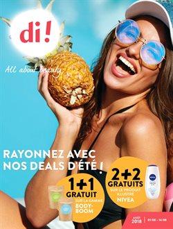 Promos de Parfumeries et Beauté dans le dépliant de Di à Mons