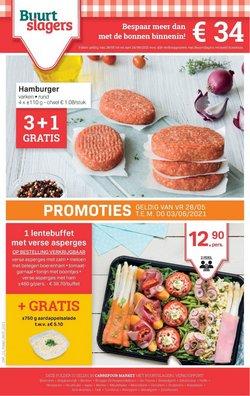 Promos de Supermarchés dans le dépliant à Buurtslagers ( Expire aujourd'hui)