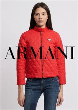 Promos de Armani dans le dépliant à Bruxelles
