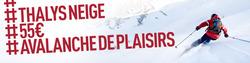 Promos de Voyages dans le dépliant de Thalys à Bruxelles