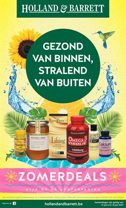 Promos de Parfumeries et Beauté dans le dépliant de Holland & Barrett à Bruxelles
