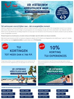 Promos de Voyages dans le prospectus de TUI à Gent ( Plus d'un mois )