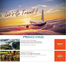 Promos de Voyages dans le dépliant à Service Voyages ( 10 jours de plus)