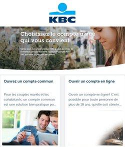 Promos de Banques et Assurances dans le prospectus de KBC Bank à Saint-Trond ( 18 jours de plus )