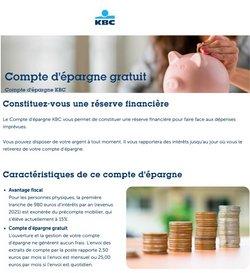 Promos de Banques et Assurances dans le dépliant à KBC Bank ( 3 jours de plus)