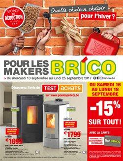 Promos de Brico dans le dépliant à Bruges