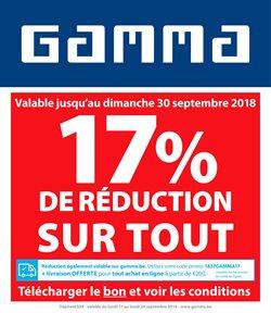 Promos de Bricolage et Jardinage dans le dépliant de GAMMA à Mons