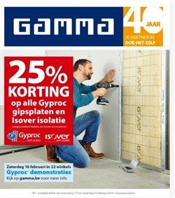 Promos de Bricolage et Jardinage dans le dépliant de GAMMA à Bruxelles