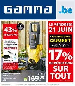 Promos de Bricolage et Jardin dans le dépliant de GAMMA à Bruxelles