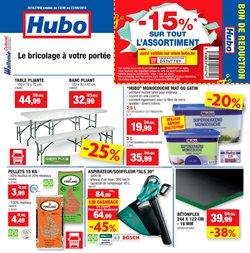 Promos de Bricolage et Jardinage dans le dépliant de Hubo à Mons