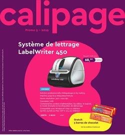 Promos de Librairie et Bureau dans le dépliant de Calipage à Bruxelles