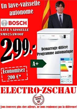 Promos de Electroménager et Multimédia dans le dépliant de Electro-Zschau à Bruxelles