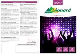 Promos de Voyages dans le dépliant de Voyages Leonard à Liège