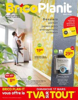 Promos de Bricolage et Jardinage dans le dépliant de Brico Plan-it à Bruxelles