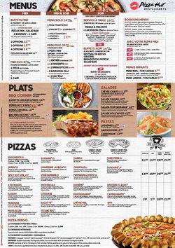 Promos de Restaurants dans le dépliant de Pizza Hut à Liège