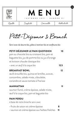 Promos de Restaurants dans le dépliant à Le Pain quotidien ( Plus d'un mois)