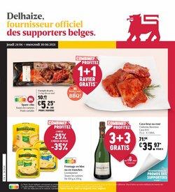 Promos de Supermarchés dans le dépliant à AD Delhaize ( Publié aujourd'hui)