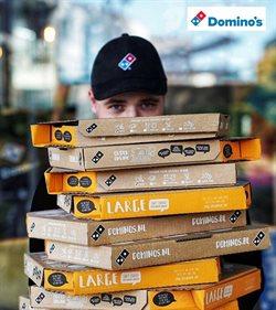 Promos de Restaurants dans le dépliant de Domino's pizza à Liège