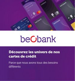 Promos de Banques et Assurances dans le dépliant à Beobank ( Plus d'un mois)