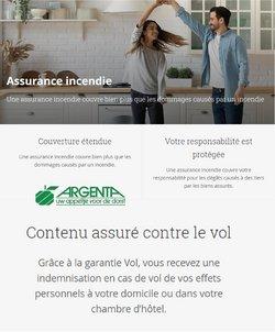 Promos de Banques et Assurances dans le dépliant à Argenta ( Plus d'un mois)
